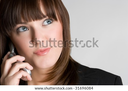 Woman on Cell Phone - stock photo