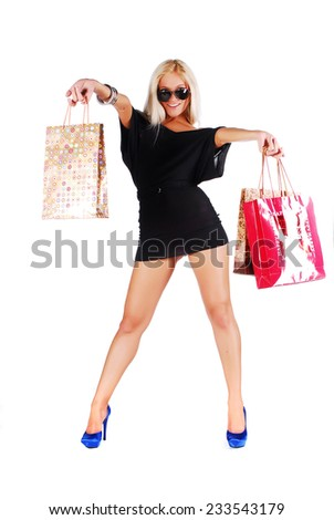 Woman on the shopping