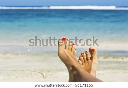 Woman On Vacation - stock photo