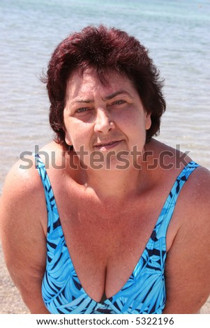 woman on water background