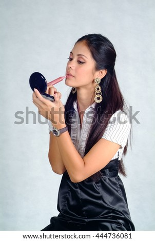 Woman or asian woman makeup on the background