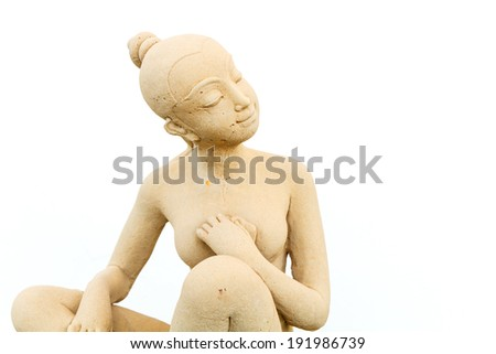 Woman or female statue in the park - stock photo