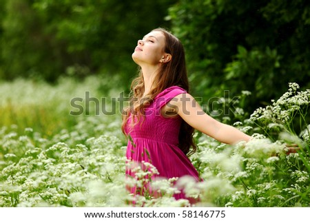 woman outdoor - stock photo
