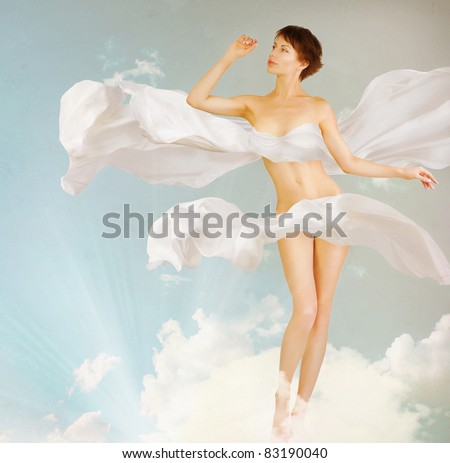 Woman. Perfect slim body.Beauty.Full-length Portrait - stock photo