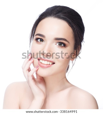 Woman perfect smiling - stock photo