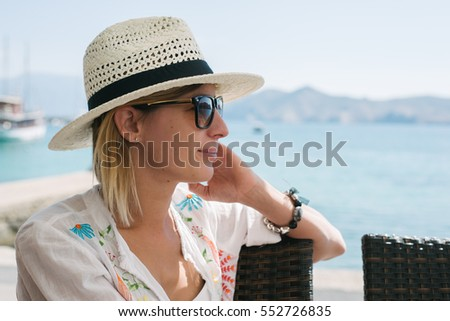 Woman portrait on beach