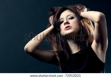 woman portrait, passion expression