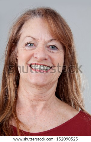 Woman portrait with smiling face