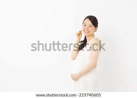 woman pregnant - stock photo