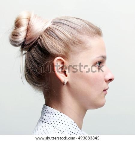 woman profile face girl profile stock photo 493883845 - shutterstock