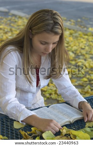 Woman Reading - stock photo