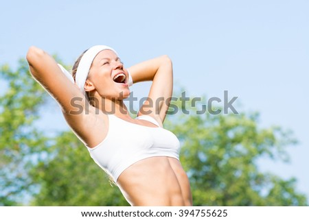 Woman runner - stock photo