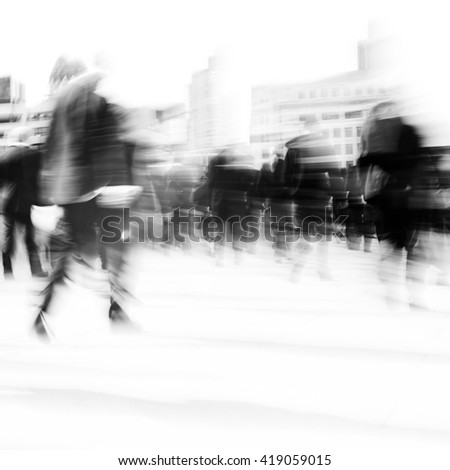 Woman Rushing City Life Hurry Concept - stock photo
