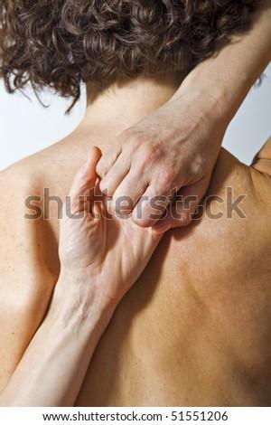 Woman's back. - stock photo