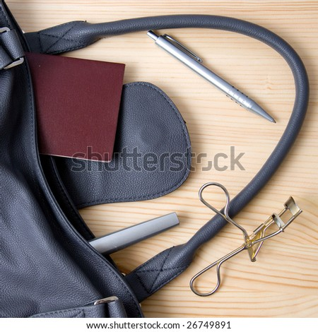 woman's bag and contents