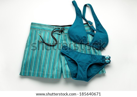 Woman's Blue Bathing Suit