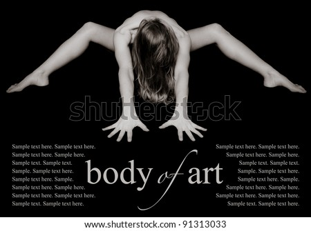 Woman's Body of Art with text space below. - stock photo