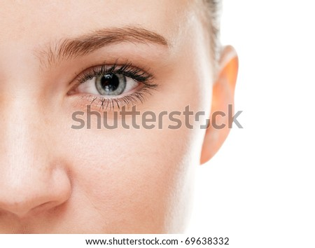 Woman's eye - stock photo