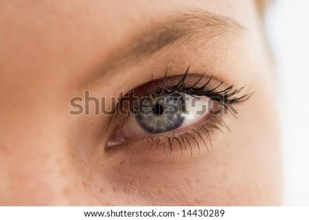 Woman's eye close up - stock photo