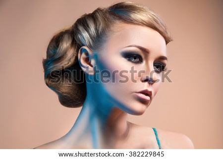 Woman's face with fashion make up