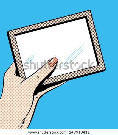 Woman's Hand Holding Picture Frame - stock photo