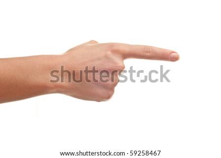 Woman's hand isolated on white background. Studio shot - stock photo