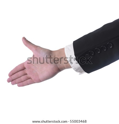 Woman's Hand Ready For Handshaking - stock photo