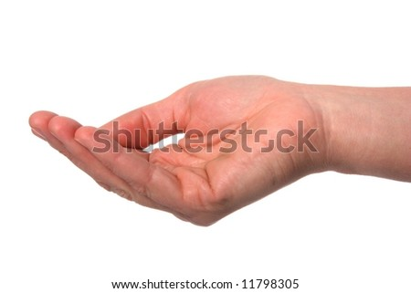 Woman's hand with the palm facing upwards