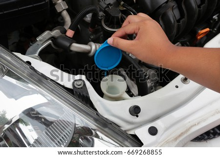 Man Filling Water Car Radiator Stock Photo 658219390 Shutterstock