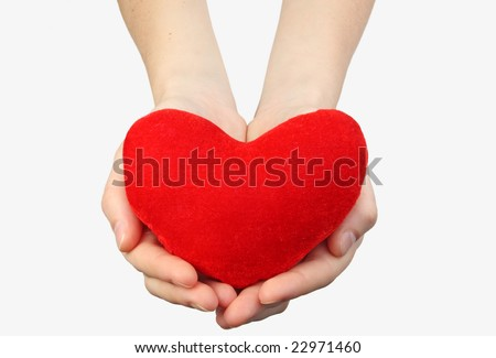 woman's hands with heart