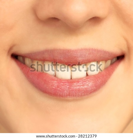 Woman\s lips without make-up