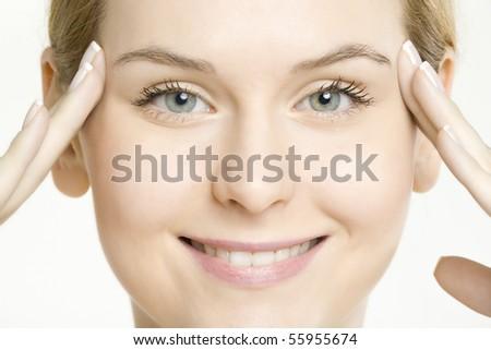 woman's portrait - stock photo