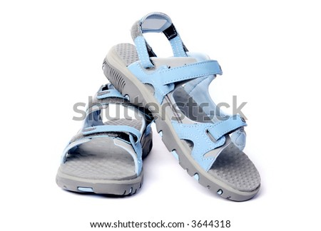 Woman`s sport sandal, blue and grey, new