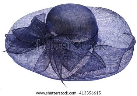 Woman`s summer hat isolated on white background