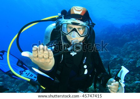 Gorgeous Woman Scuba Diver Woman Scuba Diver Watches a