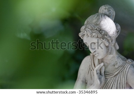 Woman sculpture - stock photo