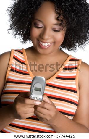 Woman Sending Text Message - stock photo