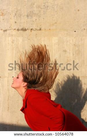 woman shaking her head - stock photo