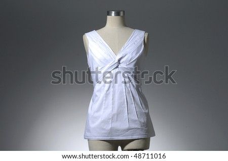 Woman shirt isolated on light background