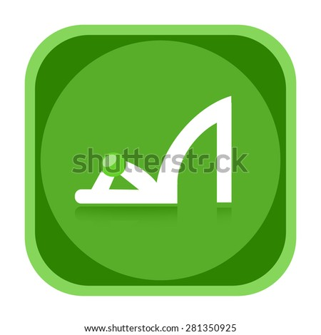 Woman shoe icon - stock photo