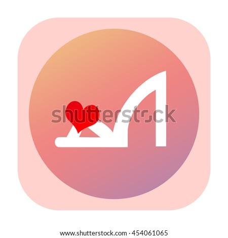 Woman shoe icon - stock photo