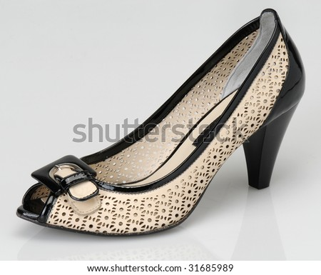 Woman  shoe isolated on the white background