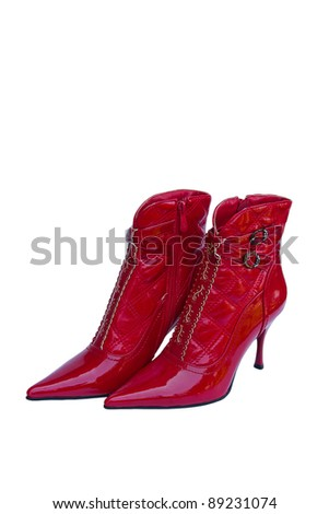 woman shoe on a white background