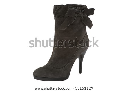 woman shoe on white background