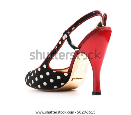 woman shoes isolated on white  background - stock photo