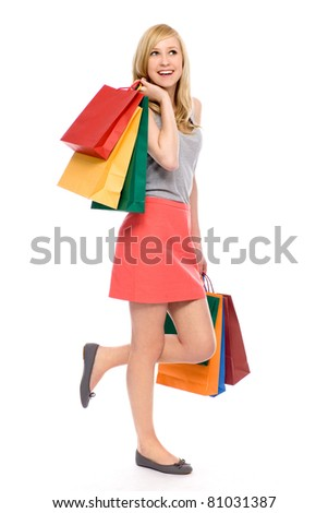 Woman Shopping - stock photo