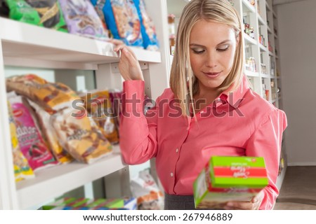 woman shopping food - stock photo