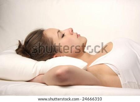 woman sleep - stock photo