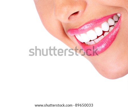 Woman smile and teeth. Dental health. Dentist. - stock photo