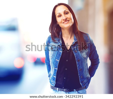 woman smiling isolated